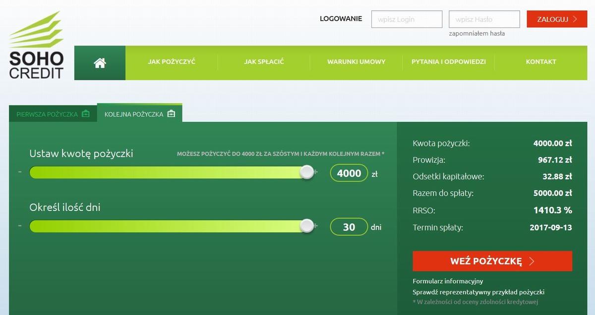 Strona Główna - portal pożyczki Soho